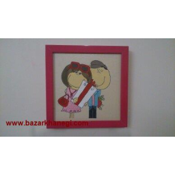 نقاشی عاشقانه روی چرم