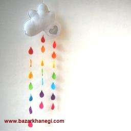 آویز طرح باران رنگین کمونی