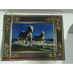 تابلو فرش طرح اسب بسیار زیبا