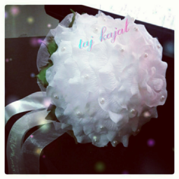 دسته گل عروس صدپر