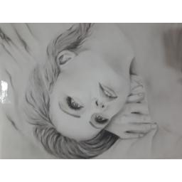 نقاشی سیاه قلم و مداد رنگی