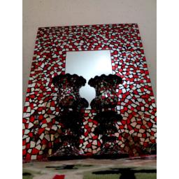 یک جفت شمعدان و یک آیینه