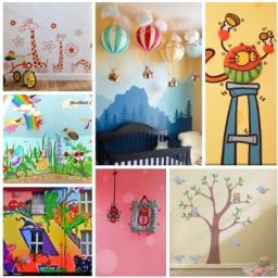 طراحی اتاق کودک و دیوار منزل با استیکر