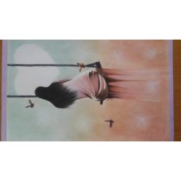 نقاشی با مداد رنگی و گواش