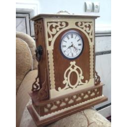 ساعت رومیزی چوبی دست ساز معرق
