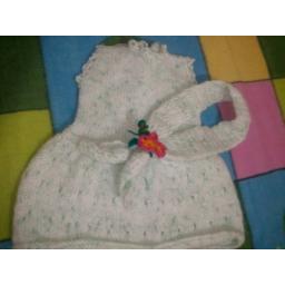 لباس نوزادی شال دار طرح برگ