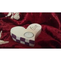 نقاشی جا شمعی فانتزی مدل قلب