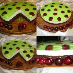چیز کیک  ژله لیمونعنا