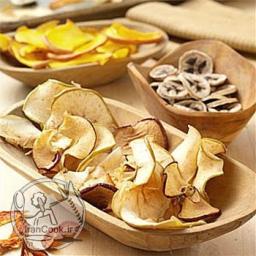 میوه خشک ارگانیک و طعم دار (موز)100گرم