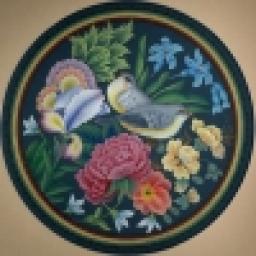 نقاشی گل ومرغ
