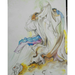 نقاشی رنگ روغن یتیم نوازی حضرت علی