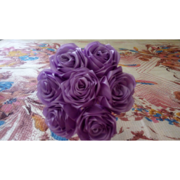 دسته گل زیبای روبانی با رنگ یاسی