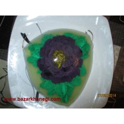 ژله تزریقی با طرح گل و برگ