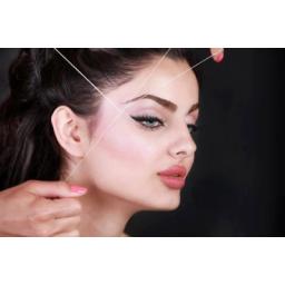 اصلاح صورت و ابرو  گذاشتن ماسك زيبايي و...