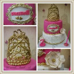 کیک تولد تم تاج
