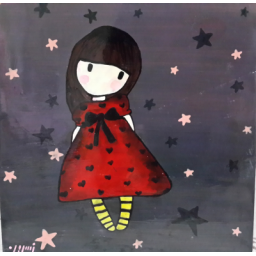 نقاشی روی چوب طرح بچه