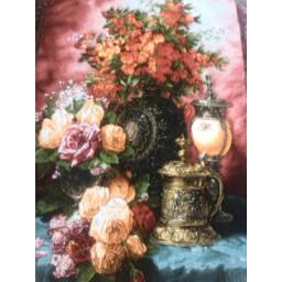 تابلو فرش گل و فانوس
