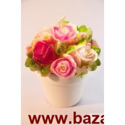 شمع گلدان گل