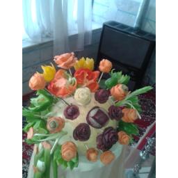 میوه آرایی، تزیین کدو با سبزیجات متنوع