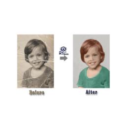 اصلاح خرابی و رنگی کردن عکس قدیمی