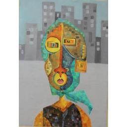 تابلوی دختر شهری