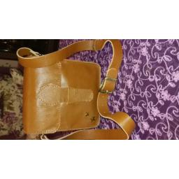 کیف یک طرفه زنانه.کاملا دست دوز.چرم بز.