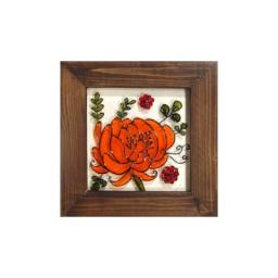 نقاشی گل روی شیشه (4)