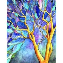 درخت (3)  نقاشی روی چوب