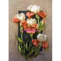تابلوی گل ارکیده- روبان دوزی (13)