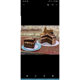 کیک روسی شکلات لاته