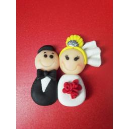مگنت خمیر چینی عروس و داماد