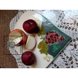 تخته سرو طرح انگور تزیین شده با لاسترطلا