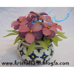 گلهای مصنوعی و کریستالی بسیار زیبا