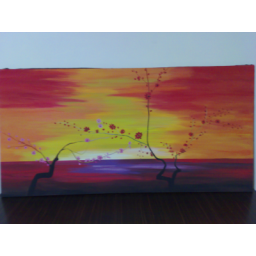 نقاشی درخت بهاری