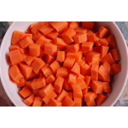 هویج خرد شده نگینی و خلالی