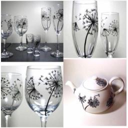 طرح و نقاشی دلخواه شما روی انواع ظروف شیشه ای