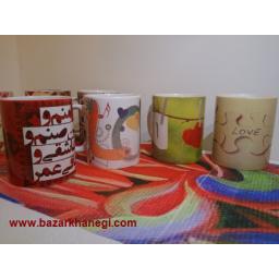 چاپ تصویر و عکس دلخواه تبلیغات بر روی انواع فنجان