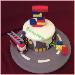 کیک تولد-طرح لگو