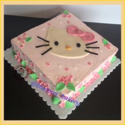 کیک تولد  دخترانه -طرح هلوکیتی