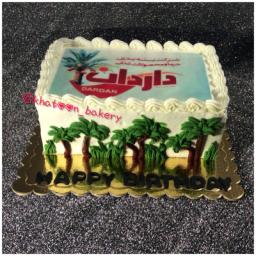 کیک تولد ا طرح مورد علاقه مشتری