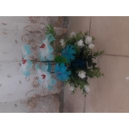 گلدان بزرگ گل لیلیوم آبی
