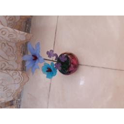گلدان گل سایز کوچک آبی