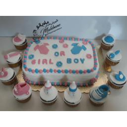 کیک خامه ای تعیین جنسیت نوزاد