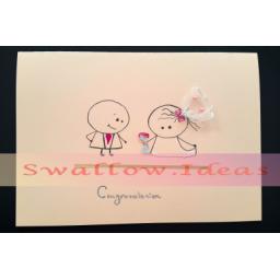 کارت پستال تبریک فانتزی عروسی با طرح جالب و فانتزی
