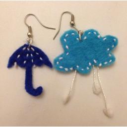 گوشواره ابر و چتر