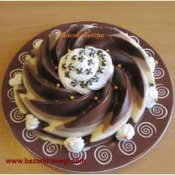 کرم ژله شکلاتی نسکافه ای راه راه