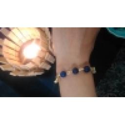 دستبند با سنگ آبی