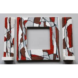 قاب آینه و شمعدان تهیه شده از چوب روس
