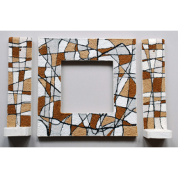 قاب آینه و شمعدان از چوب روس