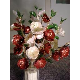 گل کریستالی شقایق و لیلیوم